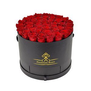 باکس مشکی استوانه ای کشودار گل رز