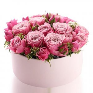 باکس گل رز صورتی