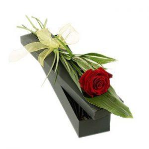 جعبه گل تک شاخه