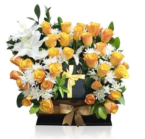 جعبه گل رز مناسب هدیه