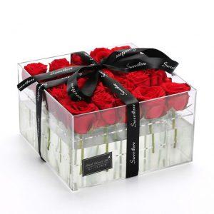 جعبه گل شیشه ای