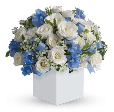 جعبه گل نوزاد پسر