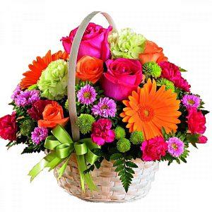سبد گل برای تولد