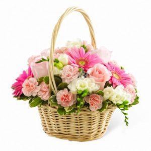 سبد گل عروس