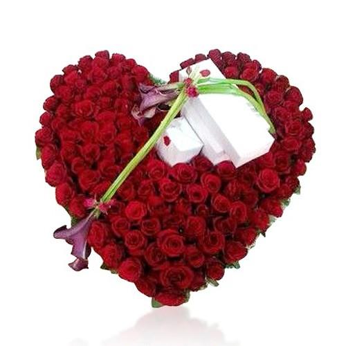 200 شاخه گل رز قلبی شکل