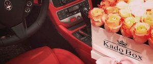 گل فروشی لاکچری کادو باکس با امکان سفارش آنلاین گل